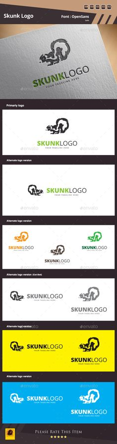 Skunk Logo Template by maraz2013 Skunk Logo Template Suitable for: �20Design Studios �20Photography �20Web Pages �20Software and Apps �20Video Games and Clans �20Creat
