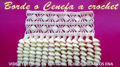 Borde, Orilla, Puntilla o Cenefa a crochet PASO A PASO EN VIDEO TUTORIAL...