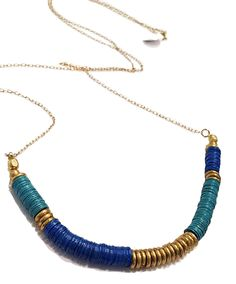 """Love the cool colors? Love the tribal feel? Look no further! This beauty was made for you. Perfect layering piece, or just rock it on its own! This 16"""" necklace is sure to start up conversation where ever you go. Available in store and online"""