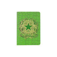 Repubblica Italiana Verde Oro Passport Holder