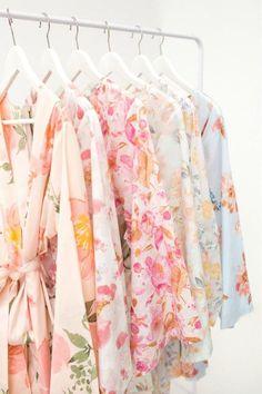 pretty floral robes - bridesmaids gift idea
