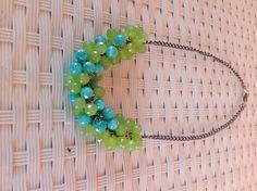 Collane girocollo verde e turchese/ di justmyviewcreazioni su Etsy, €25.00