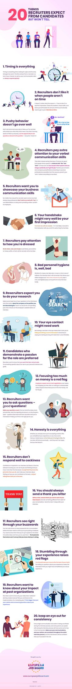 You should peep in the infographic below that lists 20 of the most common things recruiters want from candidates that you won't find in the job description. Check out how to impress a recruiter and make your career life super fantastico. Hiring Employees, Presentation Slides, Job Description, Get The Job, Data Visualization, Career, Top, Business Infographics, Check