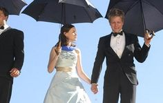 Gilmore Girls. Rory and Longan under their umbrella.