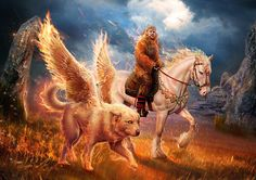 Slavic mythology. Semargl by Vasylina.deviantart.com on @DeviantArt