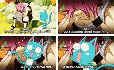 AAAAH!!!! THE ZOMBE APOCALYPSE IS UPON IS!!! NATSU IS THINKING ACTUALLY USING HIS BRAIN!!!