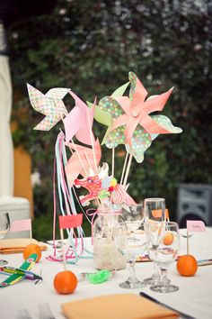 Whimsical centerpiece.