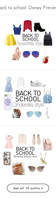 """back to school: Disney Princess"" by xgeekyvlogzx on Polyvore featuring Miss Selfridge, Philipp Plein, Roland Mouret, Matthew Williamson, Steve Madden, Piggy Paint, Maje, Chicwish, adidas Originals and Salvatore Ferragamo"