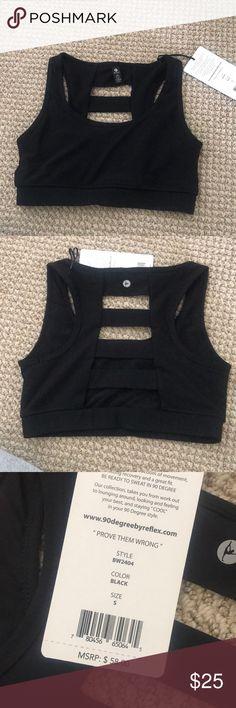 Black sports bra Sports bra never worn 90 Degree By Reflex Intimates & Sleepwear Bras