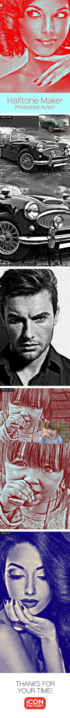 Halftone Maker - Photoshop Action - Photo Effects Actions