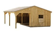 From raising goats, I know how to keep them happy. It starts by giving them a perfect shelter and we have suggestions for inspiring goat sheds just for you. Lean To Shelter, Goat Shelter, Horse Shelter, Animal Shelter, Horse Barn Plans, Horse Barns, Horses, Horse Paddock, Cabana