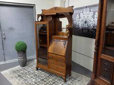 Antiques By Design - Side X Side Victorian Oak Bookcase / Desk