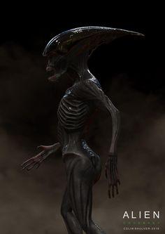 COLIN SHULVER ArtStation - Early Neomorph Concept Art for Ridley Scott's Alien Covenant