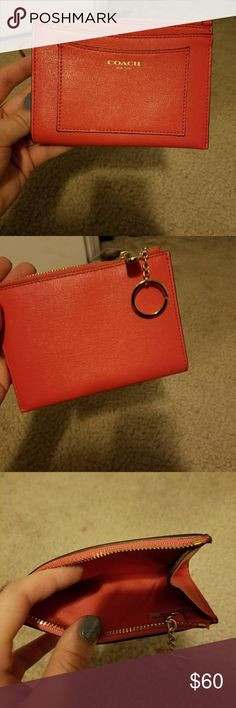 Coach wallet Coach wallet, never used. More orange than red Coach Bags Wallets