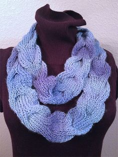 New inspirational indies up at straw.com!  Horseshoe Cowl in Mochi Plus by Crystal Palace Yarns