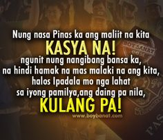 Boy Banat: Tagalog OFW Quotes and Sayings patamaquotes Filipino Quotes, Patama Quotes, Tagalog Love Quotes, Hugot Lines, Quotes About God, Online Dating, Nasa, It Hurts, Jokes