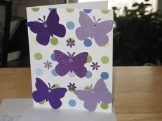 Handmade card using Butterfly punch