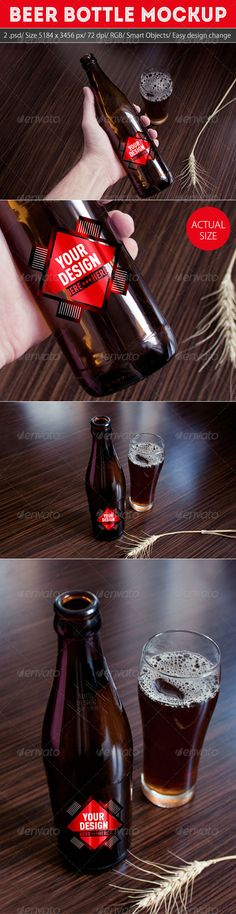 Grapulo's Beer Bottle Mockup - Product Mock-Ups Graphics