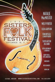 Art and Music: Award-winning illustrations, graphic design, and songwriting out of Sisters, Oregon. Cd Design, Graphic Design, Tom Russell, Folk Festival, Festival Posters, Over The Years, Sisters, Music, Musica