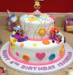 Want this for Alivia's cake! Lalaloopsy birthday cake!!!