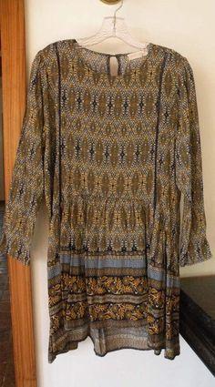 JJ's Fairyland, bohemian style, paisley print dress, size large #JJsFairyland #Bohemianstyle