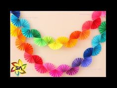 Rainbow Fan Garland {Easy DIY Party Decoration} - Ice Cream Off Paper Plates - - Rainbow fan garland that is so easy to make! You only need scissors, tape and paper to create this colorful DIY decoration for a rainbow theme party . Rainbow Fan, Rainbow Paper, Rainbow Crafts, Rainbow Theme, Easy Party Decorations, Paper Decorations, Diy Decoration, Paper Garlands, Diy Party Garland