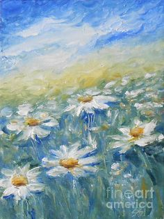 Daisies by Jane See #floral #daisies #janesee http://fineartamerica.com/featured/daisies-jane-see.html