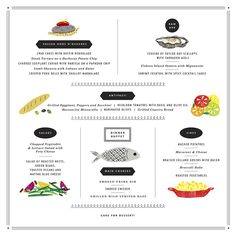 i love this idea of a drawn menu..don't know that ill serve menus to everyone but a big one by the food table would be cute