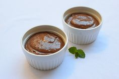 cold chocolate dessert with avocado and coconut