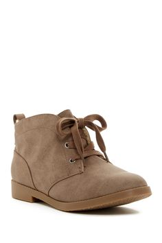Orianne Faux Fur Lined Lace-Up Bootie by Rock & Candy on @nordstrom_rack