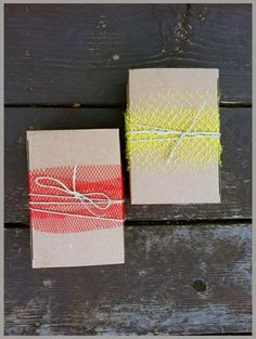 What a creative and easy way to wrap gifts.