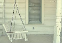 i'd love a front porch with a swing one day