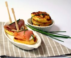 Potatoes and scallion pancakes with smoked salmon                     #recipe #juliesoissons
