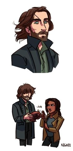 "Sleepy Hollow fan art... hahaha  ""turn the exquisite wind maker back on lefftenant!"""