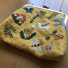 #刺繍とがま口 #樋口愉美子 #dmcembroidery #embroidery #刺繍