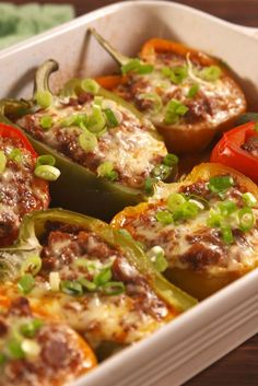 Sloppy Joe Stuffed Peppers