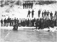 Baptism in the wintery snow ice river. What the fuck were they thinking. Not for the love my eyes. Baptism in Big Coal River , West Virginia.
