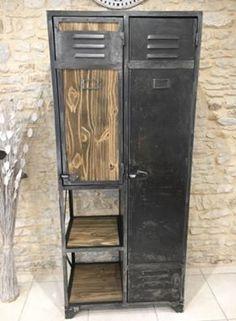 Reconstitution d'un vestiaire ATAL Tall Cabinet Storage, Locker Storage, Lockers, Industrial, Design, Furniture, Home Decor, Industrial Furniture, Decoration Home