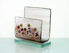 Fused glass iPhone stand smartphone stand docking by virtulyglass, $30.00