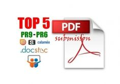 I will convert your Article into PDF file and Manually Submit on to Doc sharing sites for Social Marketing, Online Marketing, Digital Marketing, Social Media Services, Seo Services, White Hat Seo, Seo News, Promote Your Business, Submissive