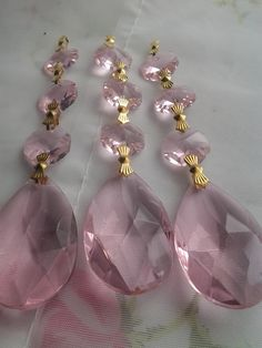 pink shabby chic crystal things | ... Crystal Prisms Chandelier Crystal Teardrops Shabby Cottage Chic