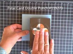 Stampin Up! Petal Card Punch Gift Card Holder ... from Stampin Pretty ... good tips and cute card ...
