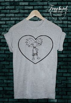 Hey Arnold LOVE tshirt tee by FreebirdApparelUK on Etsy