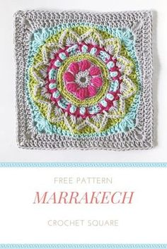 Free crochet granny square pattern from mobiusgirldesign.com