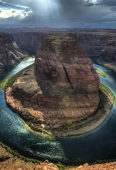 Horseshoe Bend - horseshoe-shaped meander of the Colorado River near Page, Arizona, USA