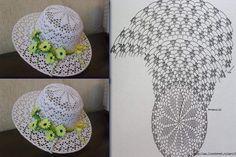 Crochet Sun Hat Patterns Part 3 - Diy Crafts - Marecipe Crochet Hooded Scarf, Crochet Adult Hat, Patron Crochet, Crochet Summer Hats, Crochet Kids Hats, Crochet Cap, Crochet Motifs, Crochet Clothes, Crochet Patterns