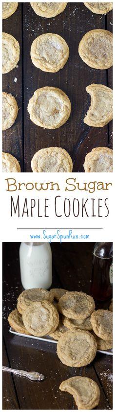 Brown Sugar Maple Cookies SugarSpunRun.com