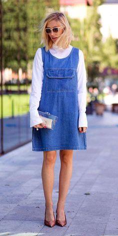Vestidos jeans são aposta das coleções de verão, mas dá para usar? Gloria Kalil responde e indica como   Chic - Gloria Kalil: Moda, Beleza, Cultura e Comportamento