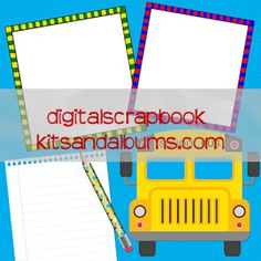 Digital Scrapbook Kits and Albums: Schools Back Digital Scrapbook Free Quickpage