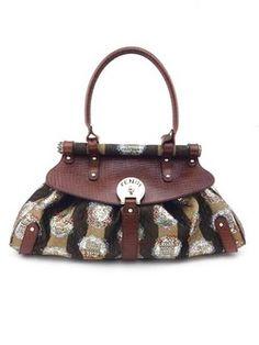 #fendi #brown #gold #metallic #leather #satchel #purse #bagoftheday #bagporn #fashion #couture